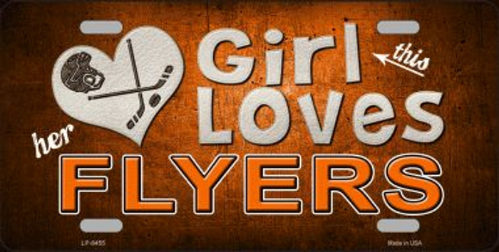 This Girl Loves Her Flyers Novelty Wholesale Metal License Plate