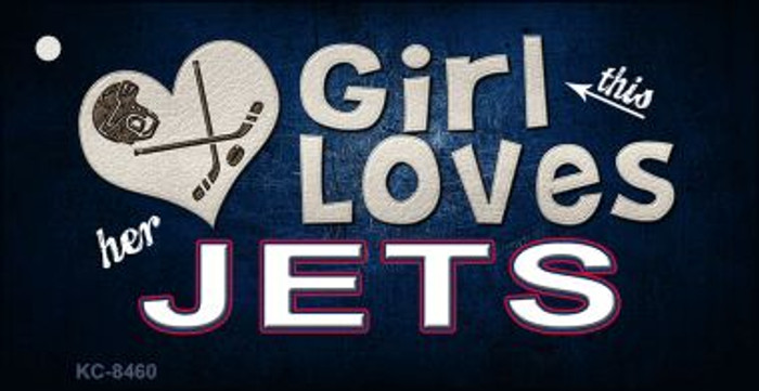This Girl Loves Her Jets Wholesale Novelty Key Chain