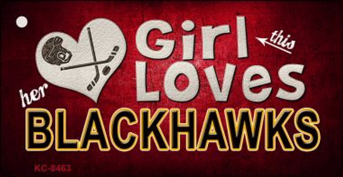 This Girl Loves Her Blackhawks Wholesale Novelty Key Chain