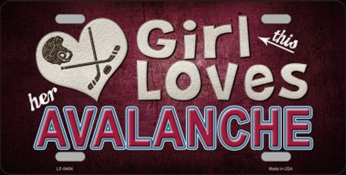 This Girl Loves Her Avalanche Novelty Wholesale Metal License Plate