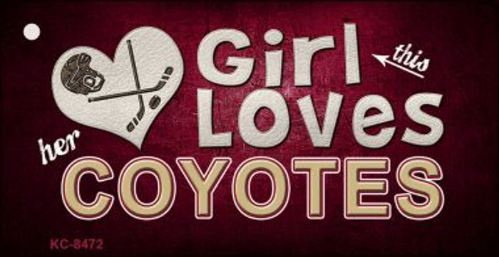 This Girl Loves Her Coyotes Wholesale Novelty Key Chain