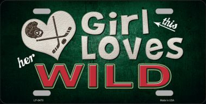 This Girl Loves Her Wild Novelty Wholesale Metal License Plate