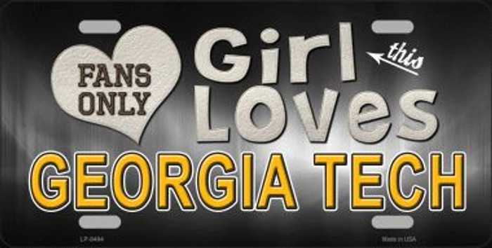 This Girl Loves Georgia Tech Novelty Wholesale Metal License Plate