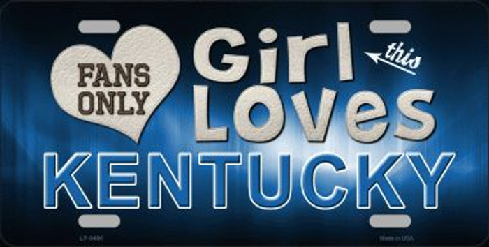 This Girl Loves Kentucky Novelty Wholesale Metal License Plate
