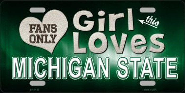 This Girl Loves Michigan State Novelty Wholesale Metal License Plate