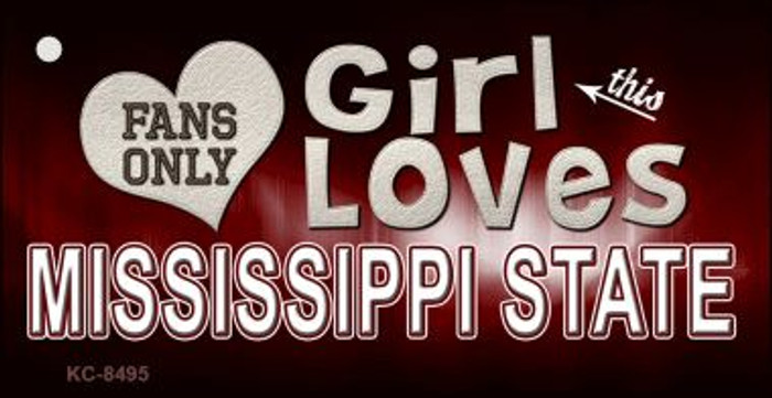 This Girl Loves Mississippi State Wholesale Novelty Key Chain