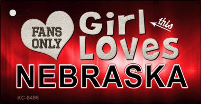 This Girl Loves Nebraska Wholesale Novelty Key Chain