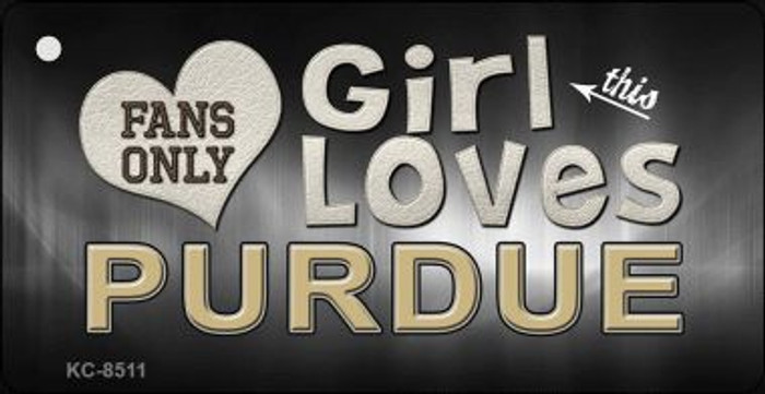This Girl Loves Purdue Wholesale Novelty Key Chain