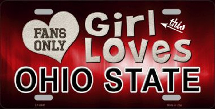 This Girl Loves Ohio State Novelty Wholesale Metal License Plate