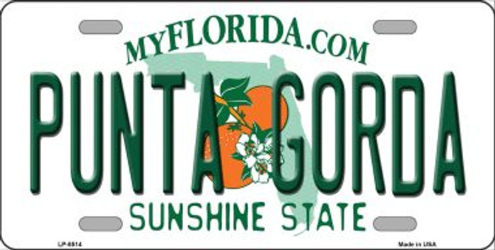 Punta Gorda Florida Wholesale Metal Novelty License Plate