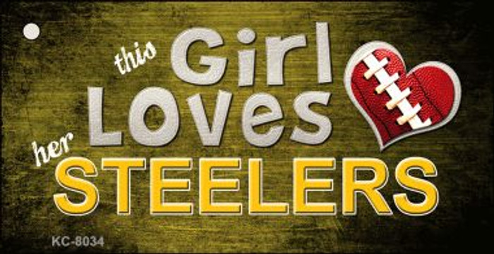 This Girl Loves Her Steelers Wholesale Novelty Key Chain