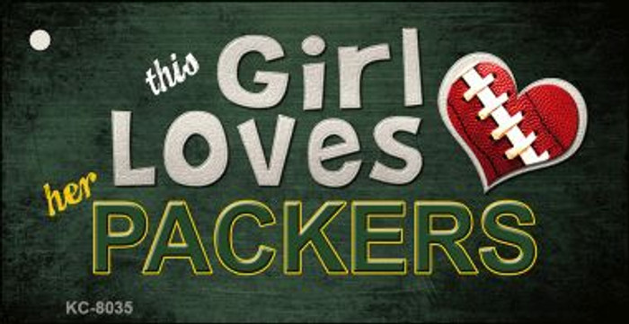 This Girl Loves Her Packers Wholesale Novelty Key Chain