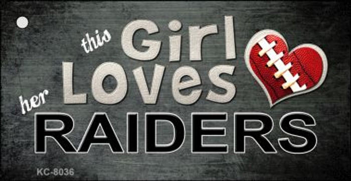 This Girl Loves Her Raiders Wholesale Novelty Key Chain