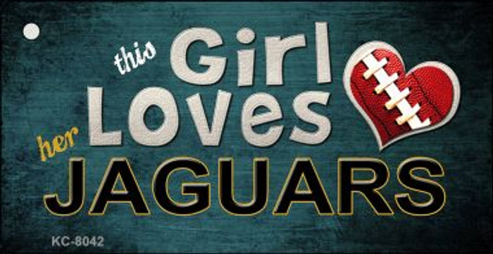 This Girl Loves Her Jaguars Wholesale Novelty Key Chain