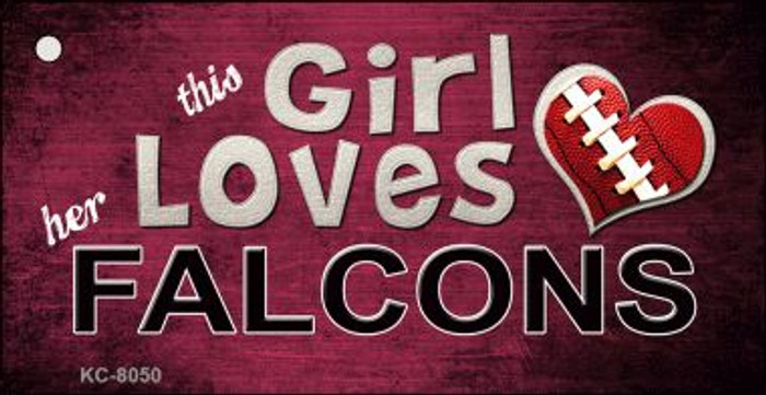 This Girl Loves Her Falcons Wholesale Novelty Key Chain