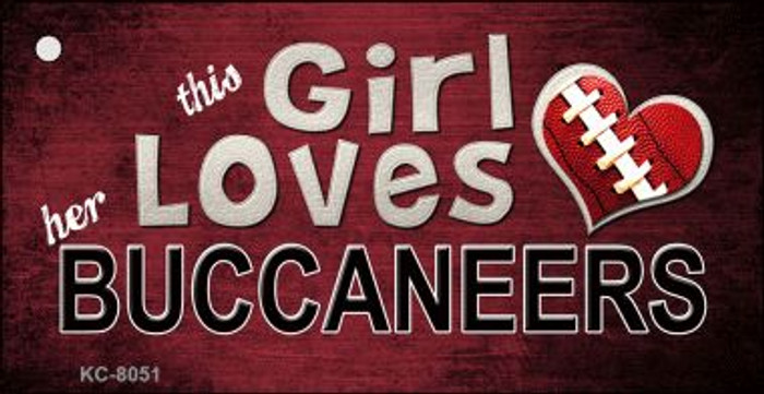This Girl Loves Her Buccaneers Wholesale Novelty Key Chain