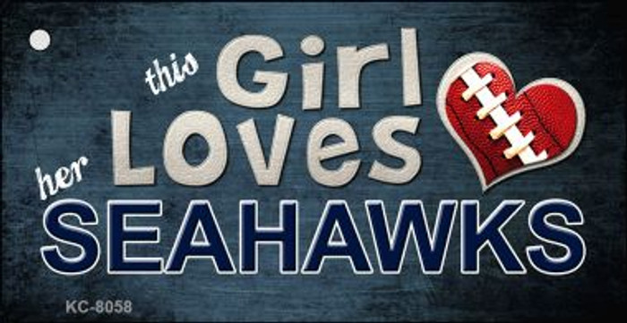 This Girl Loves Her Seahawks Wholesale Novelty Key Chain