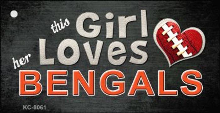 This Girl Loves Her Bengals Wholesale Novelty Key Chain
