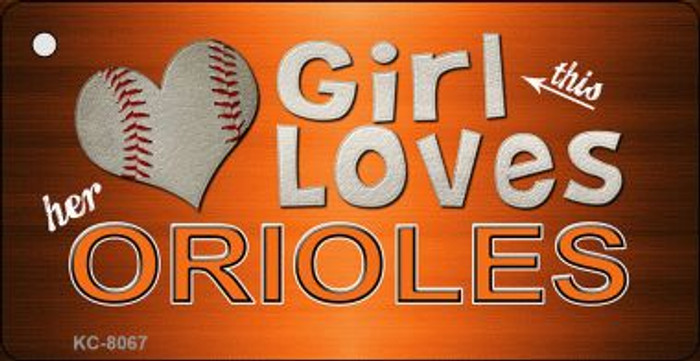 This Girl Loves Her Orioles Wholesale Novelty Key Chain