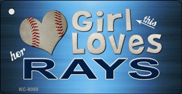 This Girl Loves Her Rays Wholesale Novelty Key Chain