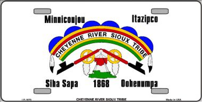 Cheyenne River Sioux Flag Wholesale Metal Novelty License Plate LP-1870