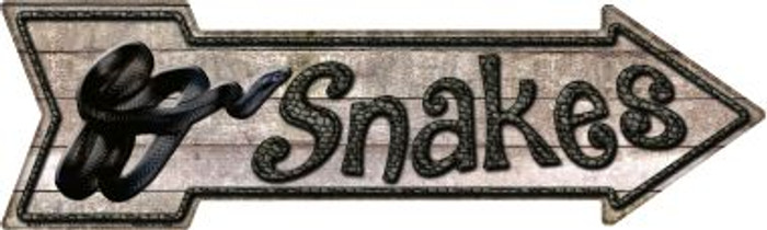 Snakes Wholesale Novelty Metal Arrow Sign