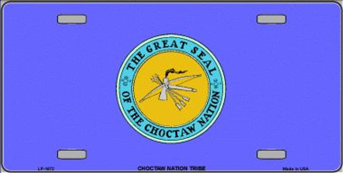 Choctaw Nation Flag Wholesale Metal Novelty License Plate LP-1872