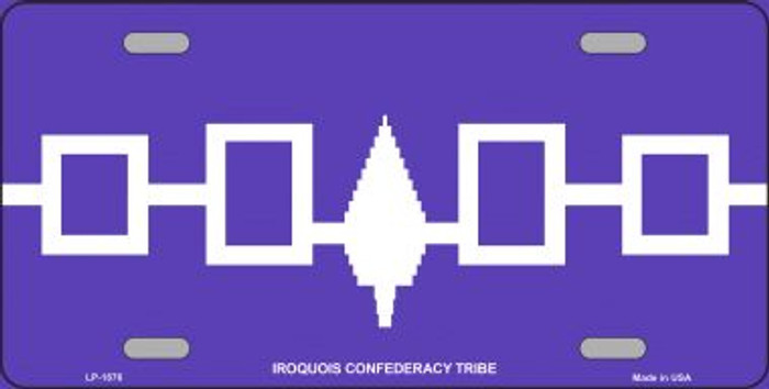 Iroquois Confederacy Flag Wholesale Metal Novelty License Plate
