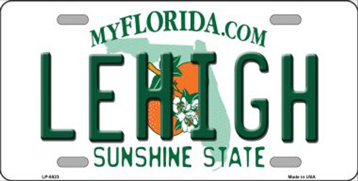 Lehigh FL Background Wholesale Metal Novelty License Plate
