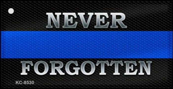 Never Forgotten Thin Blue Line Wholesale Novelty Key Chain