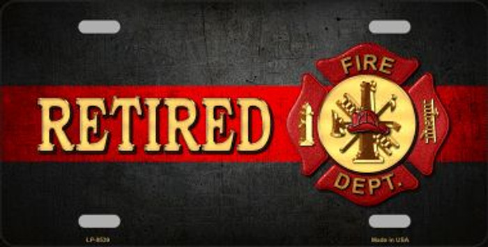 Retired Fire Thin Red Line Wholesale Metal Novelty License Plate