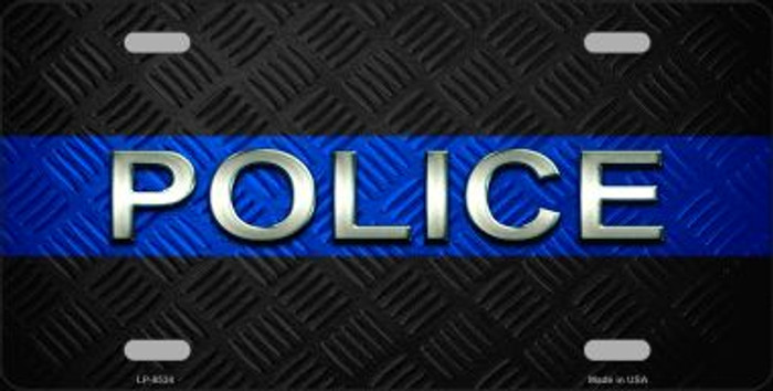 Police Thin Blue Line Wholesale Metal Novelty License Plate
