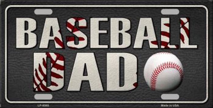 Baseball Dad Wholesale Metal Novelty License Plate