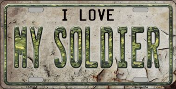 I Love My Solider Wholesale Metal Novelty License Plate