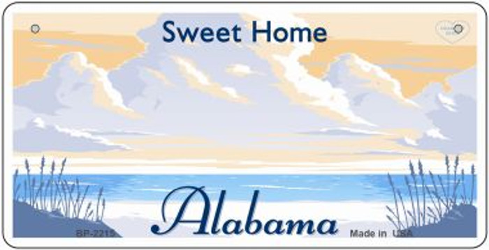 Alabama State Background Wholesale Metal Bicycle Plate