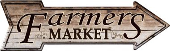 Farmers Market Wholesale Novelty Metal Arrow Sign