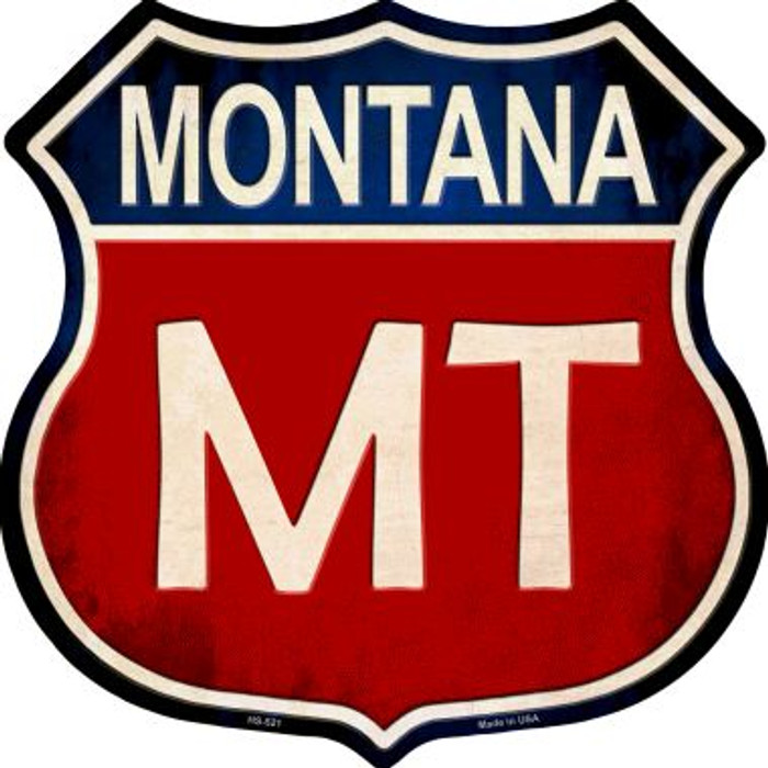 Montana Wholesale Metal Novelty Highway Shield