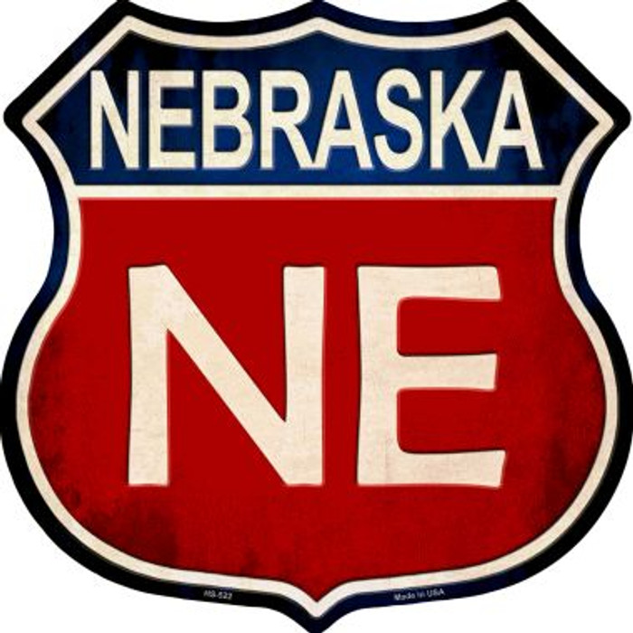 Nebraska Wholesale Metal Novelty Highway Shield