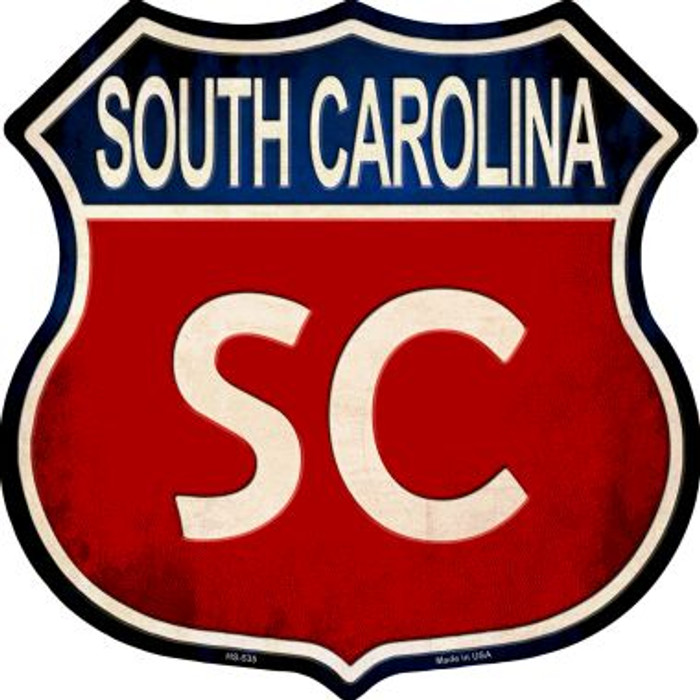 South Carolina Wholesale Metal Novelty Highway Shield