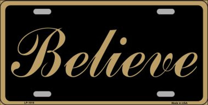 Believe Wholesale Metal Novelty License Plate