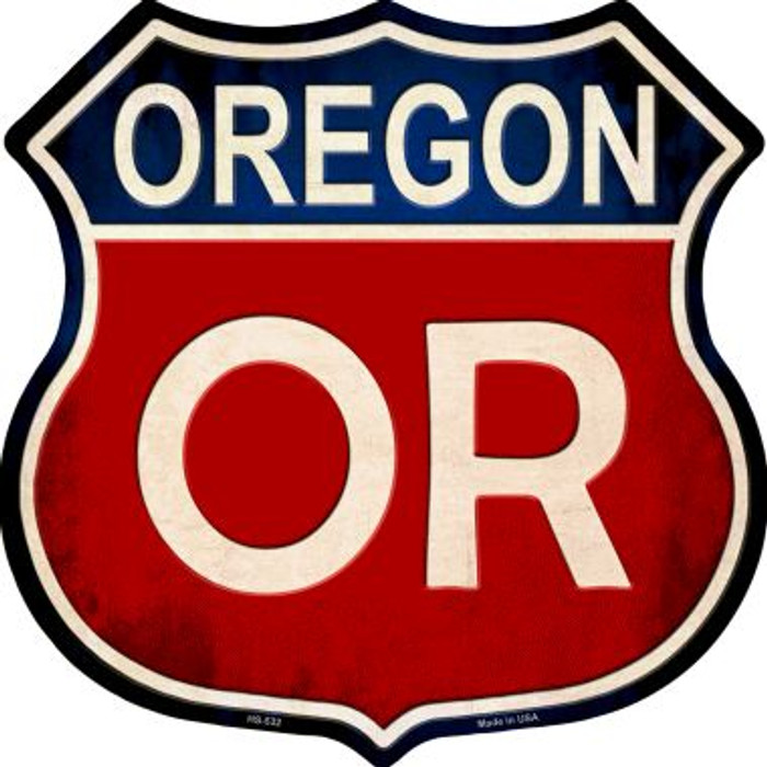 Oregon Wholesale Metal Novelty Highway Shield