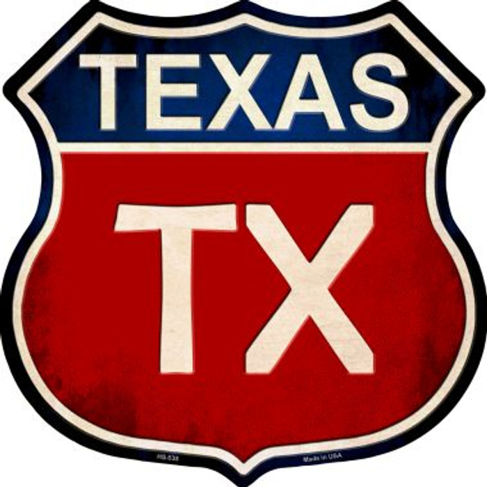 Texas Wholesale Metal Novelty Highway Shield