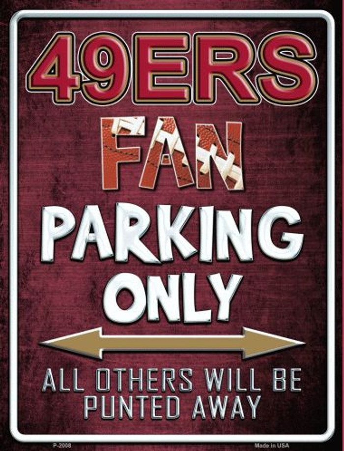 49ers Wholesale Metal Novelty Parking Sign