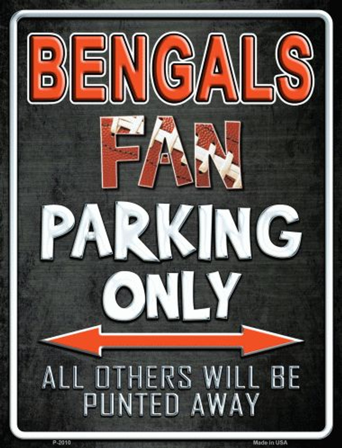 Bengals Wholesale Metal Novelty Parking Sign