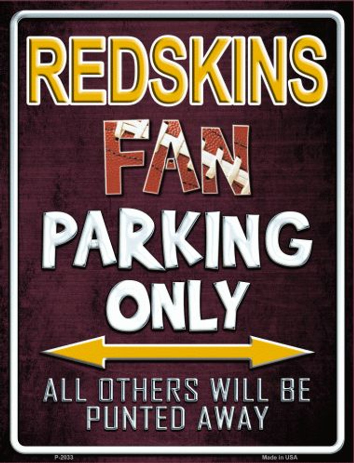 Redskins Wholesale Metal Novelty Parking Sign