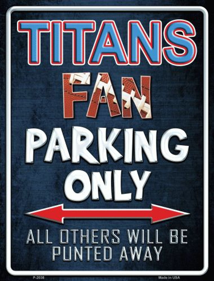 Titans Wholesale Metal Novelty Parking Sign