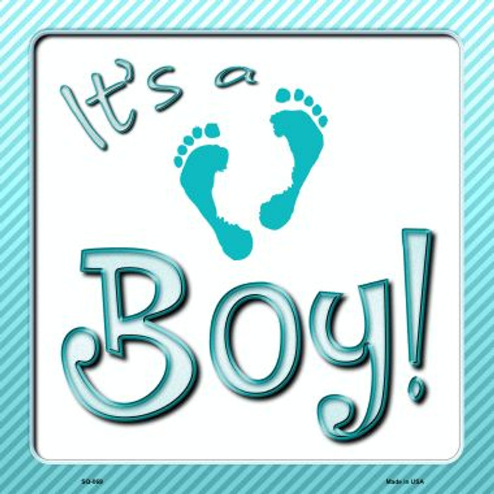 Its A Boy Wholesale Novelty Metal Square Sign