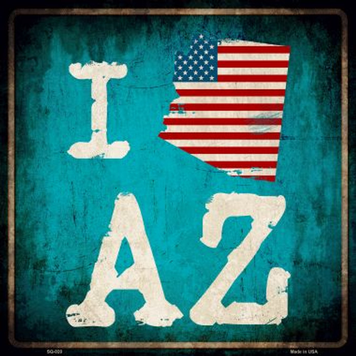 I Love Arizona Wholesale Novelty Metal Square Sign