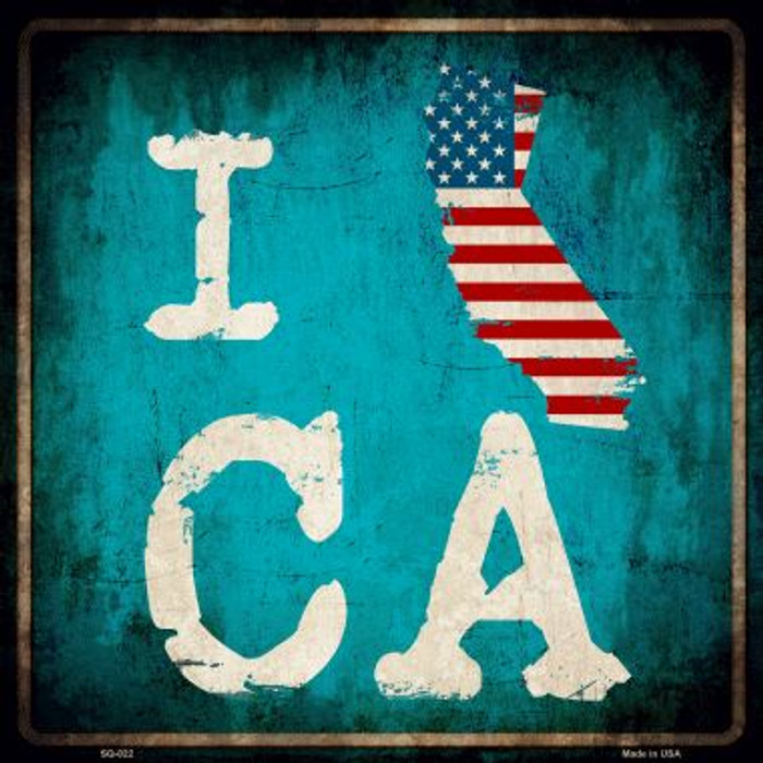 I Love California Wholesale Novelty Metal Square Sign