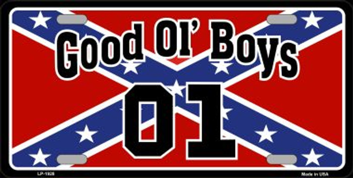 Good Ol Boys Confederate Flag Wholesale Metal Novelty License Plate